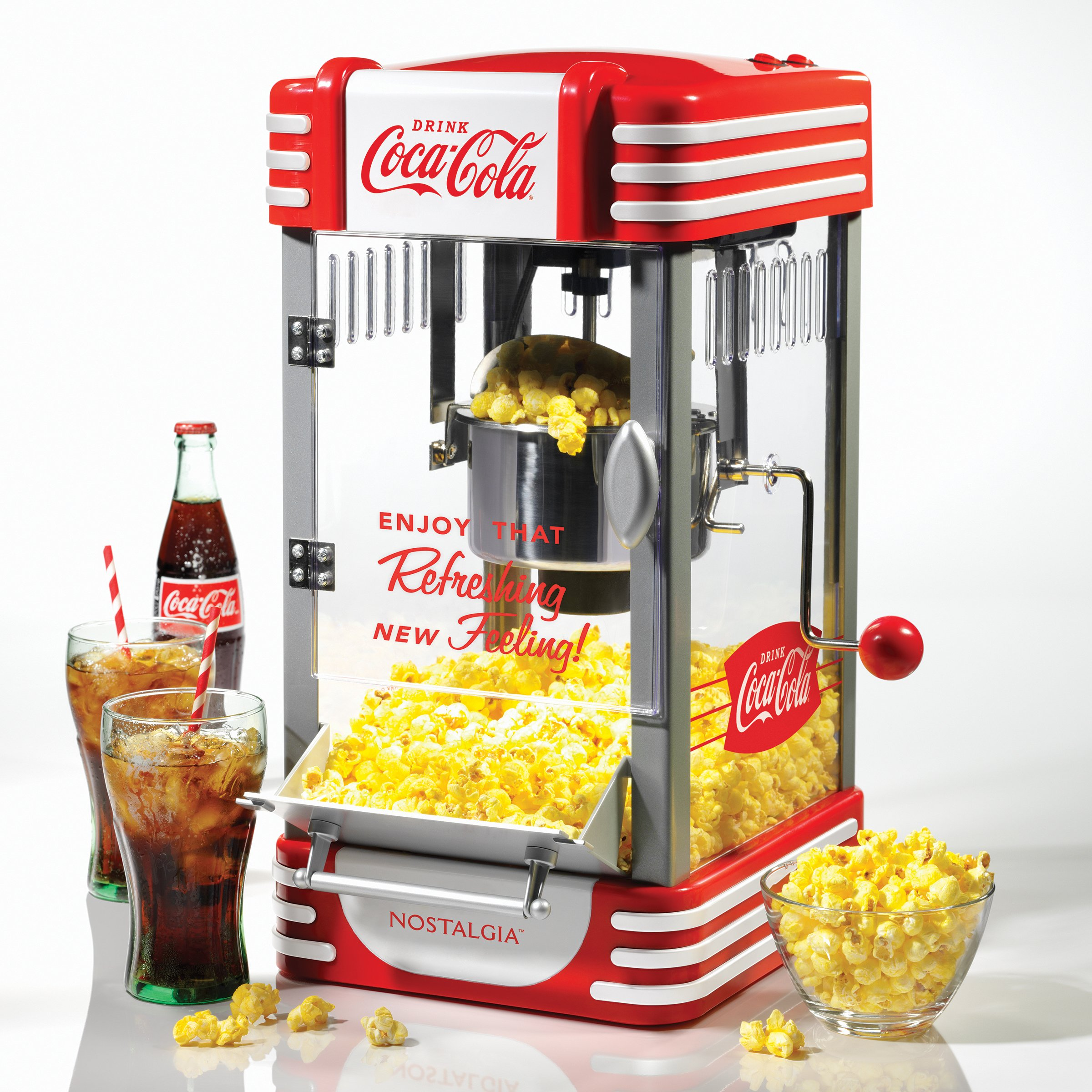 Nostalgia RKP630COKE Coca-Cola 2.5-Ounce Kettle Popcorn Maker by NOSTALGIA