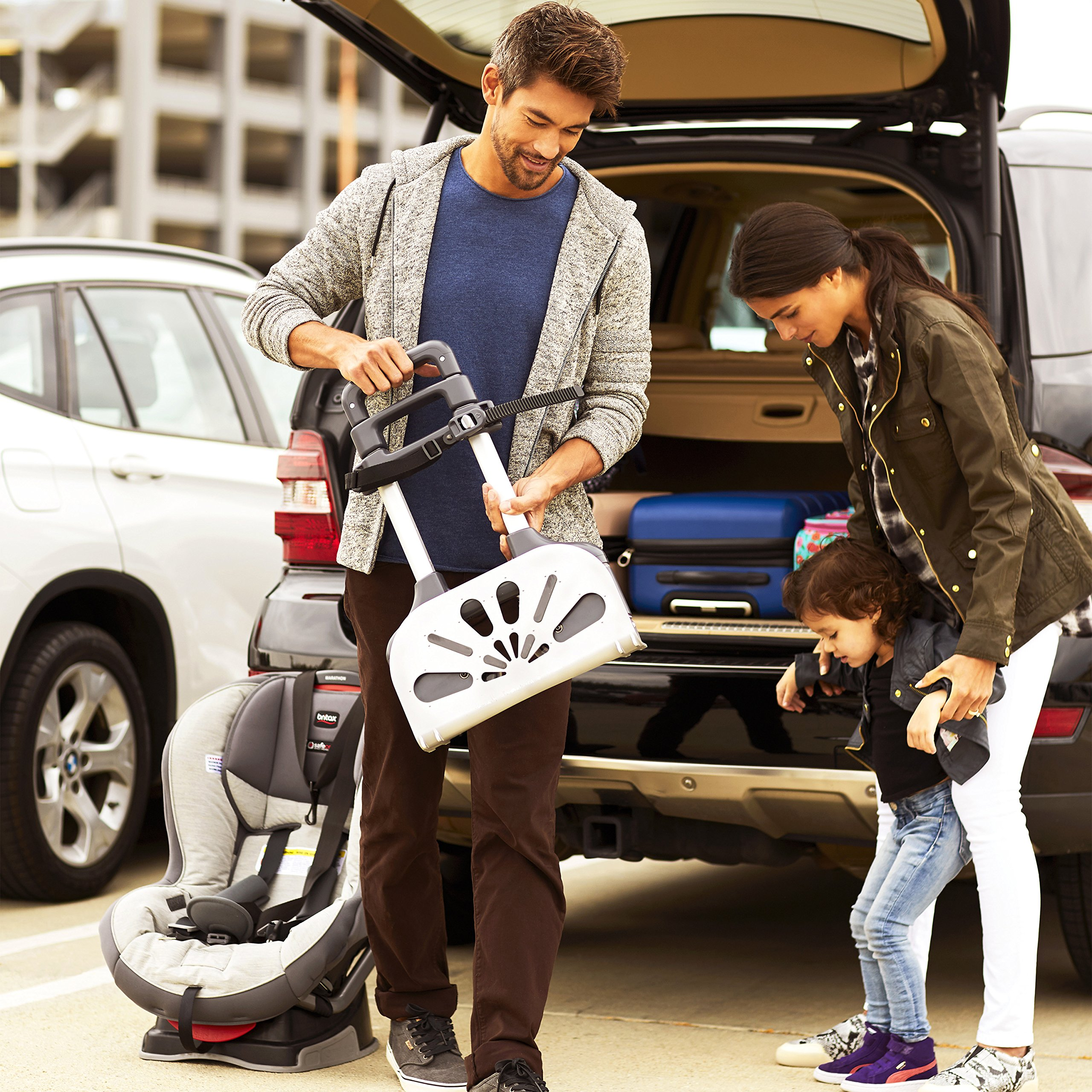 Brica Smart Move Car Seat Travel Cart, Airport Transporter, Grey by Munchkin (Image #3)