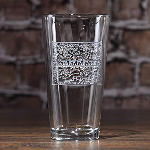 City Map Glasses Amazon.com: Street Maps Etched Pint Pub Glasses   Set of 2   (map