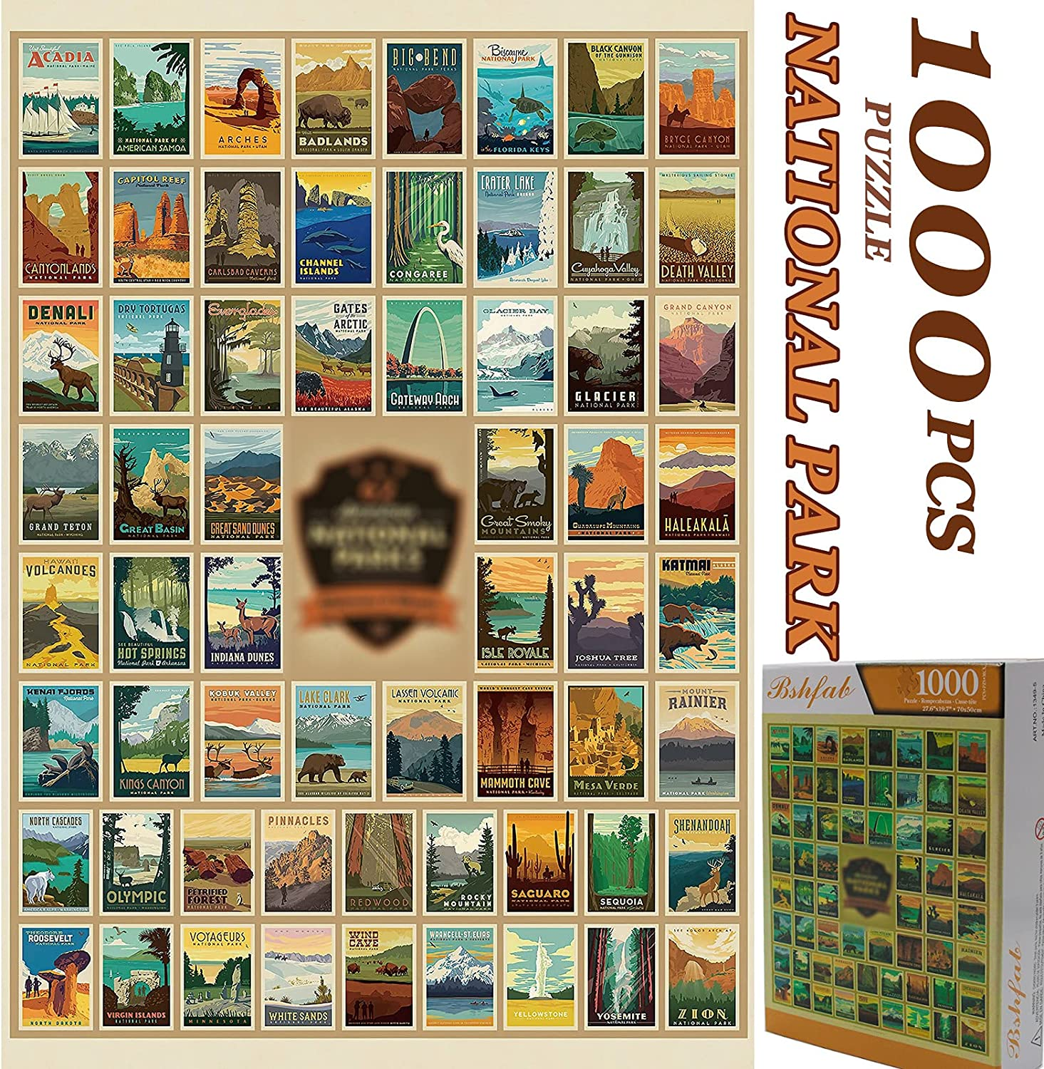 Jigsaw Puzzles for Adults Kids 1000 Piece 27.6x19.7 Inch-Difficult Educational DIY Toy Puzzle Games for Women Men Teens Seniors-Fun Families Indoor Activity-Large Landscape Art Home Decor Gifts-Park