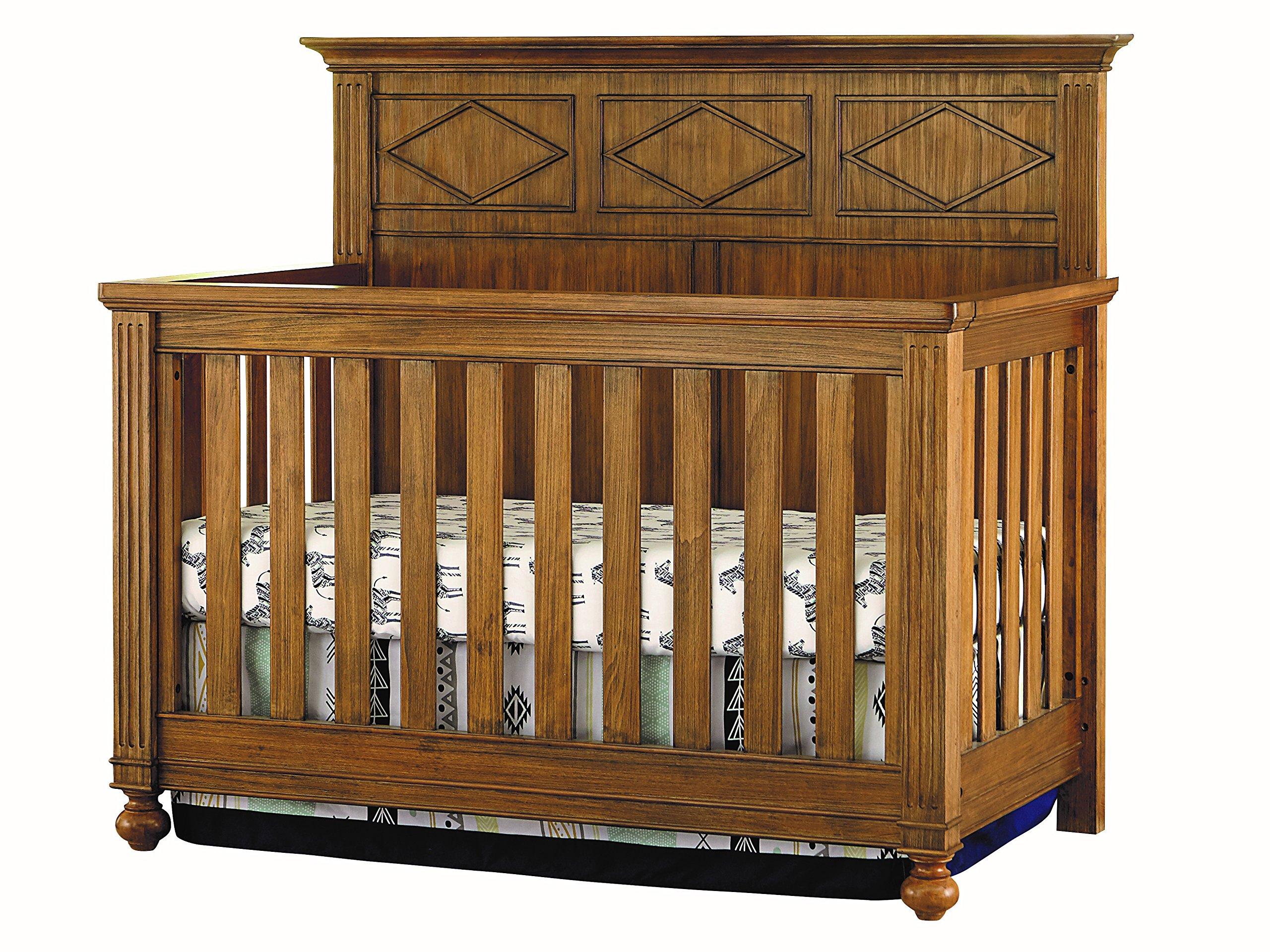 Bassett Baby & Kids 4-in-1 Convertible Crib, Rustic Brownstone