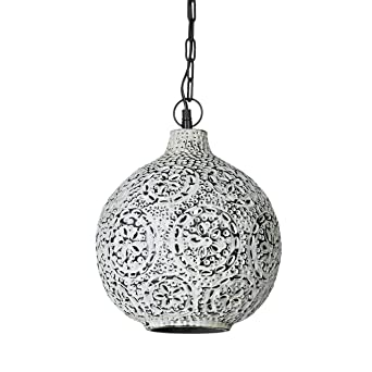 Relaxdays Lampe à suspension Patina style shabby chic oriental H x D ...