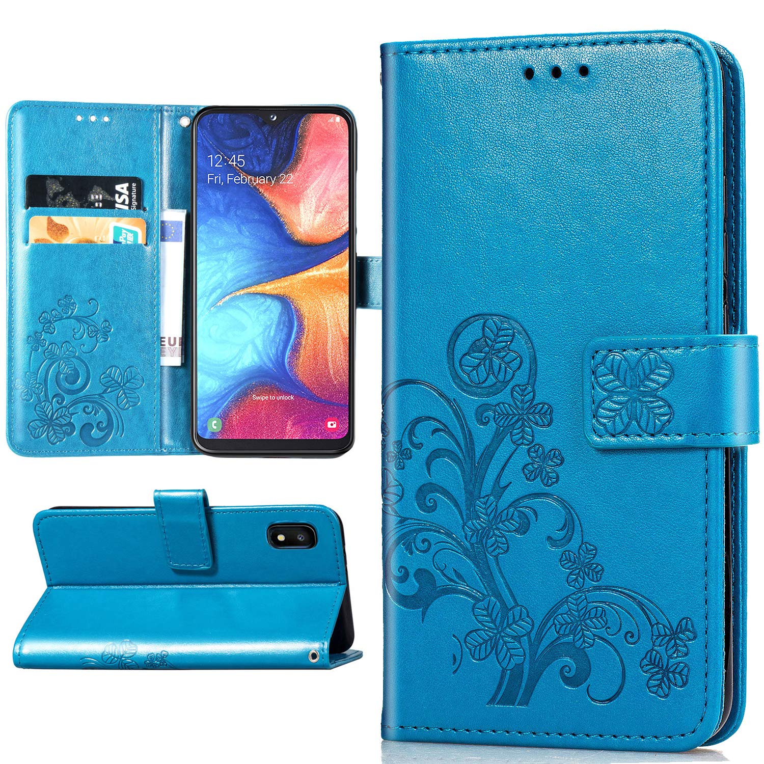 Samsung Galaxy A10E Wallet-Aqua Blue