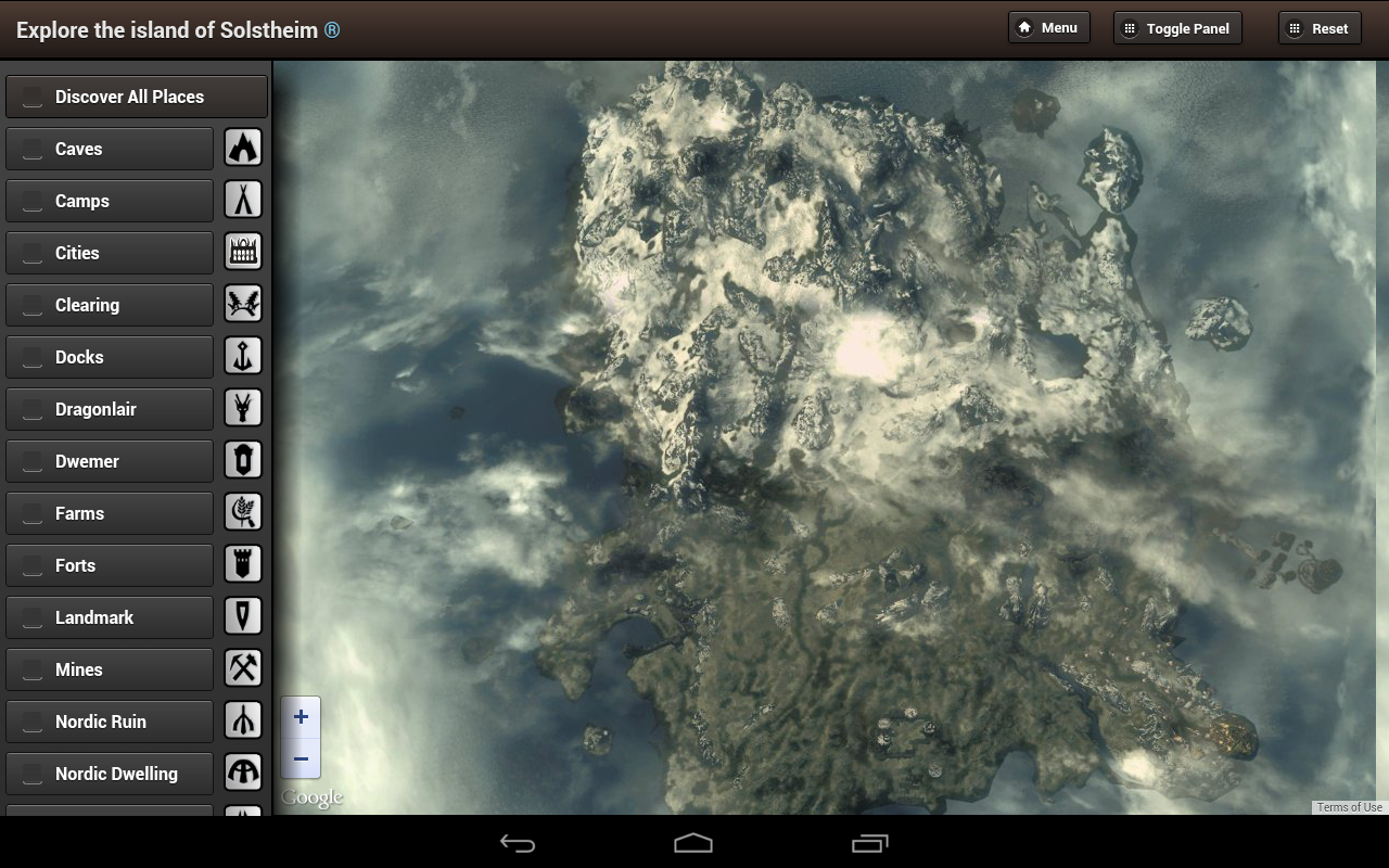 Amazon Skyrim Map HD Appstore For Android