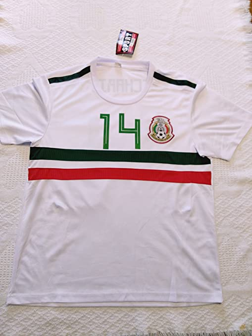5ce6d6df5d229 Full 90 Seleccion Mexicana World Cup CHICHARITO White Jersey Genérica  (White