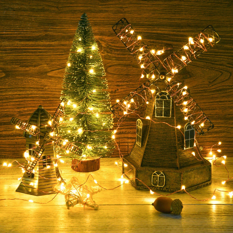 Amazon.com: Micro string Lights, DecorNova 60 LED Battery Operated ...
