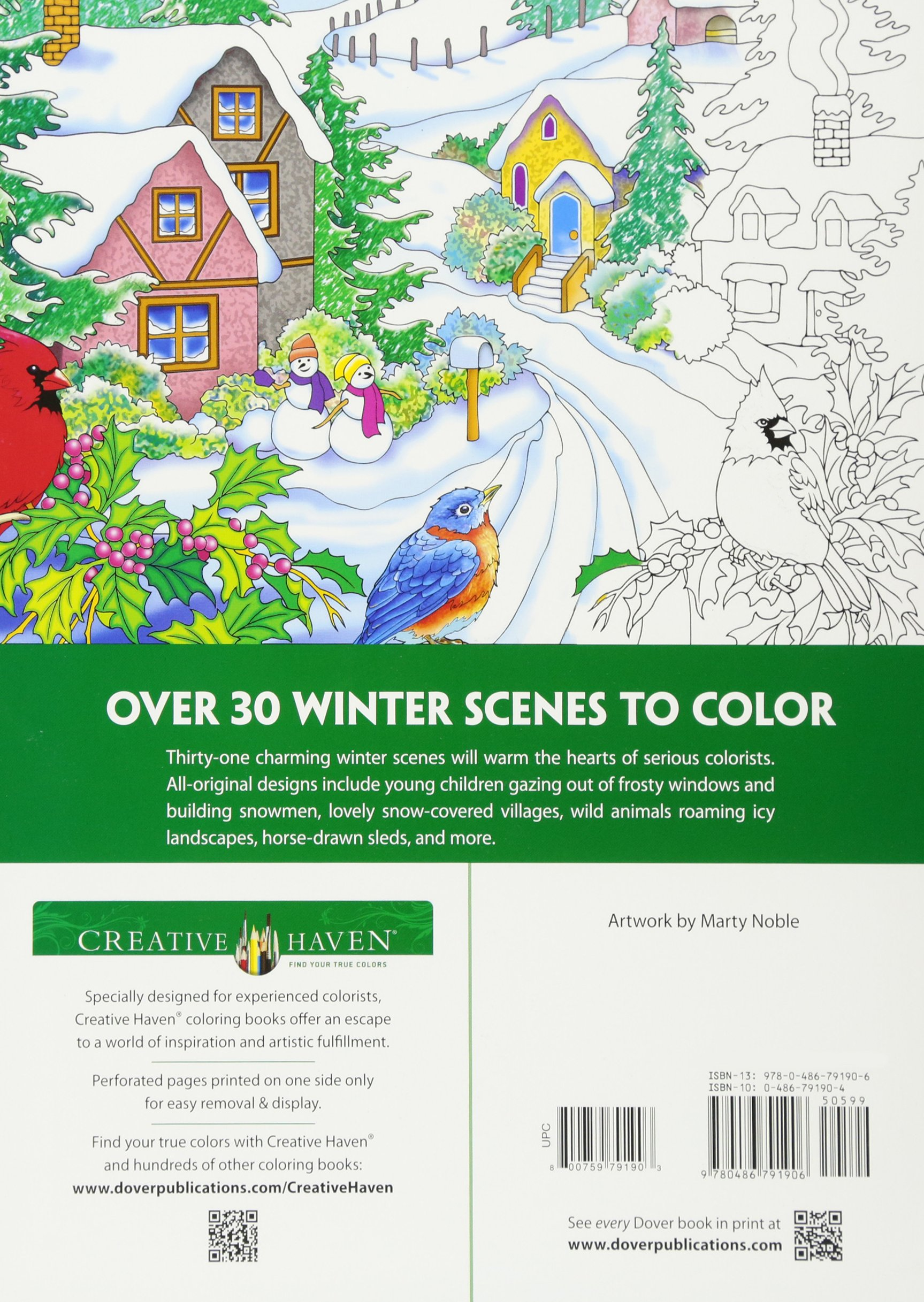 Creative Haven Winter Scenes Coloring Book Books Amazoncouk Marty Noble 8601411318429