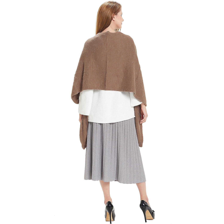 HANERDUN Women Warm Pashmina Shawl Wrap Winter Soft Cashmere Scarf with Pockets