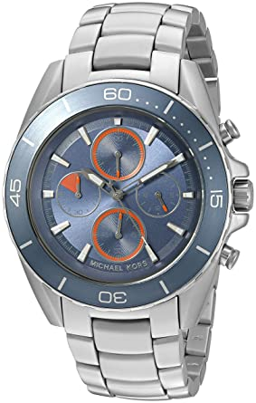 aaa8340f66b8 Image Unavailable. Image not available for. Color  Michael Kors Men s  Jetmaster Silver-Tone Watch MK8484