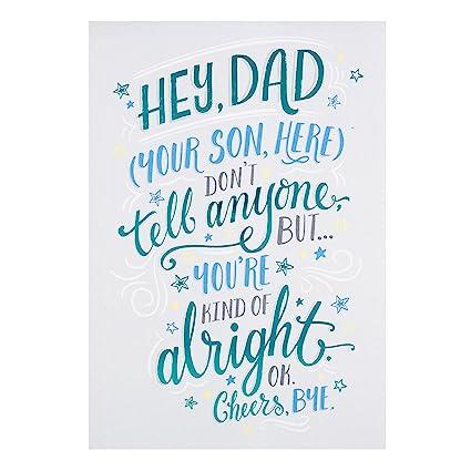 Hallmark - Tarjeta de Dad Tarjeta de felicitación para el ...