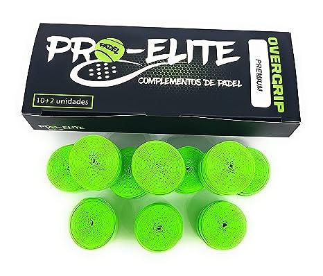 overgrips Pro Elite Premium Perforados Verdes Flúor. Caja 10 ...