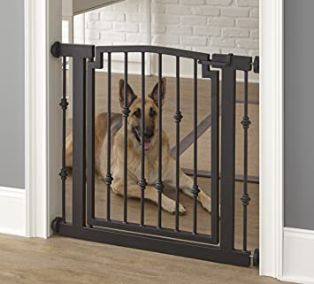 Emperor Rings Dog Gate   Black   Expandable To 40u0026quot;   Indoor Pet  Barrier,