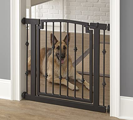 Gentil Emperor Rings Dog Gate   Black   Expandable To 56u0026quot;   Indoor Pet  Barrier,