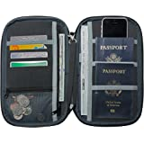 NeatPack RFID Travel Wallet Document Organizer & Passport Holder Black