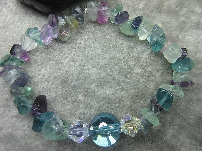 Amazon.com  Genuine Aqua Aura Quartz and Rainbow Fluorite Healing ... a9bbbc4f55