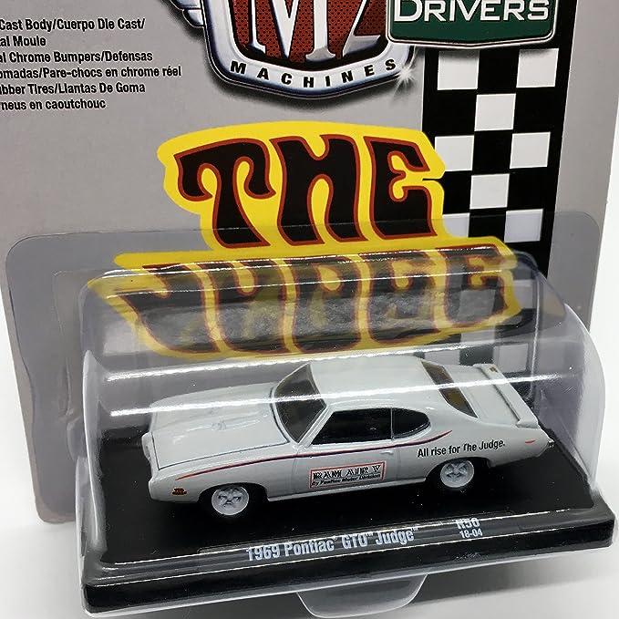 Amazon.com: M2 Machines 1969 Pontiac GTO Judge (Palladium Silver Metallic w/Judge Stripes) Auto-Drivers Release 50 - Castline 2018 Special Edition 1:64 ...