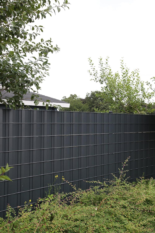 """Sichtschutz SIGMA für Doppelstabmatten 26 lfdm in anthrazit """"Made"""