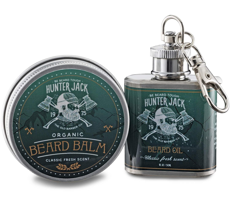 Hunter Jack Beard Oil and Balm Deluxe Kit for Men best beard balm for black men