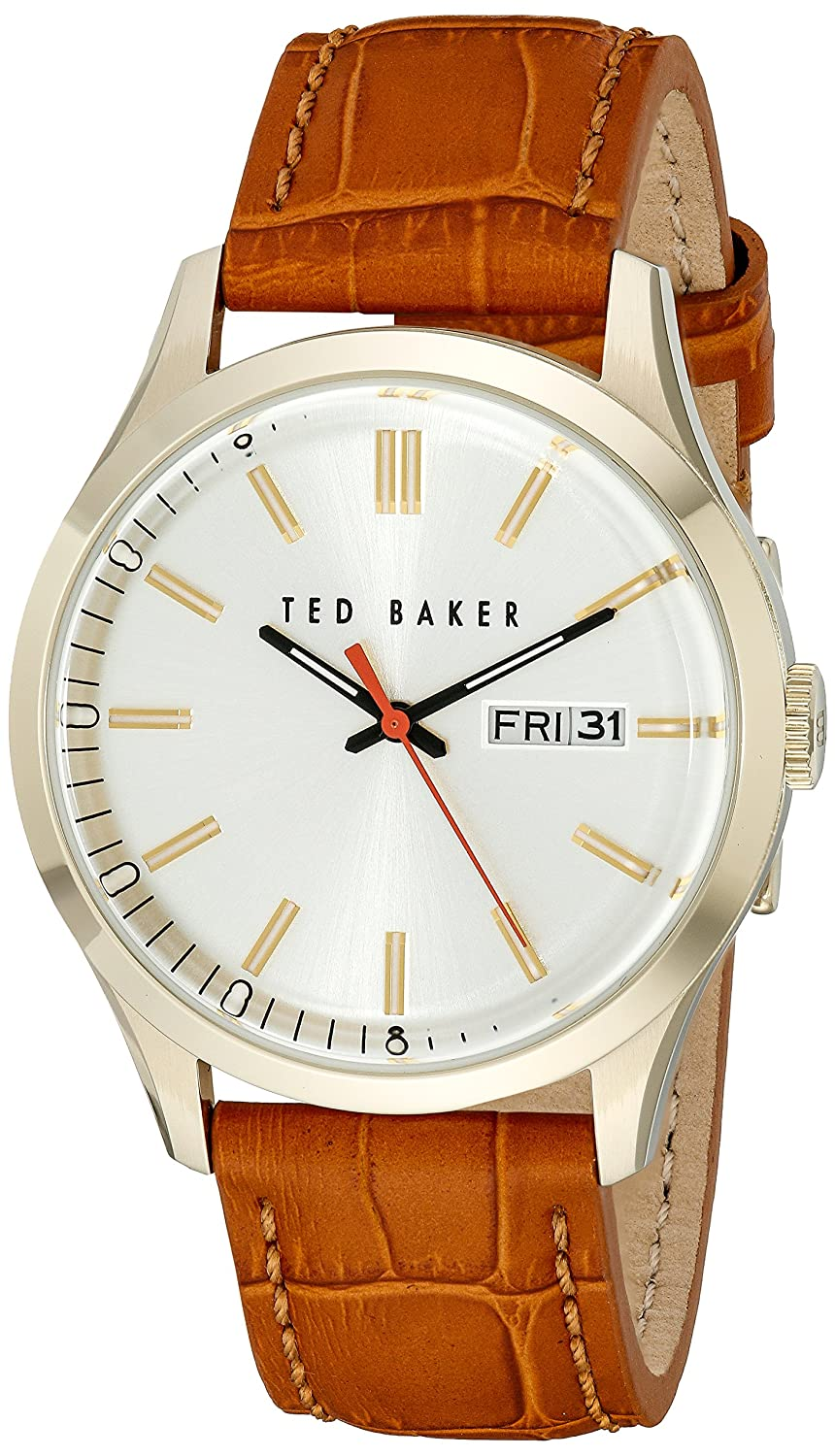2e04df8364a6 Amazon.com  Ted Baker Men s 10023464 Dress Sport Analog Display Japanese  Quartz Brown Watch  Ted Baker  Watches
