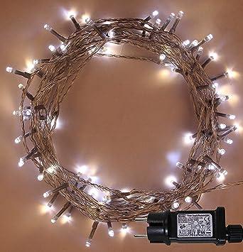 Luces de hadas de Navidad 500 LED Blanco caliente y fresco 2 in 1 árbol interior