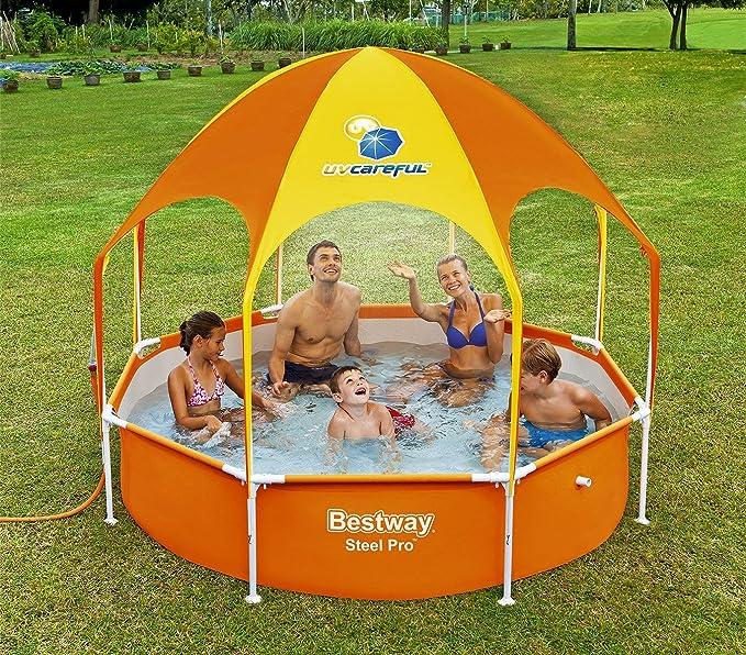 56432 Piscina inflable Play Splash-In-Shade Bestway con toldo y ...