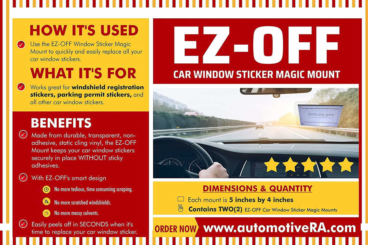 Amazon com ez off car window sticker magic mount automotive