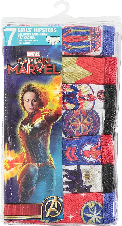 Marvel Captain Girls 7-Pack Hipster Underwear 8 Capt Mrvl