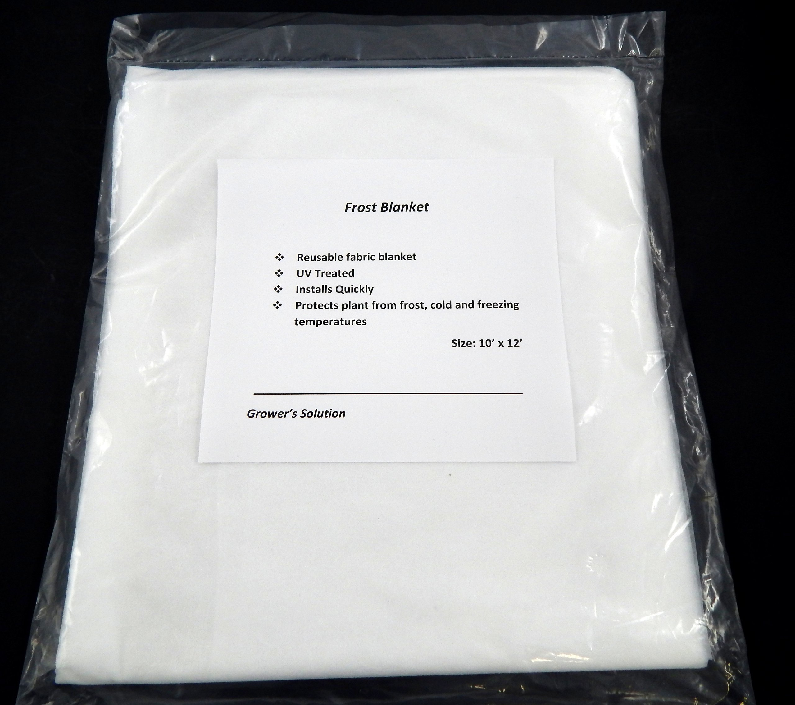 Frost Blanket for Plant Cover & Winter Protection 10' X 12' - 3 Pack by Growers Solution