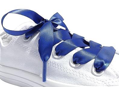 22ff1d171019b8 Amazon.com  Cobalt Flat Satin Ribbon Shoelaces