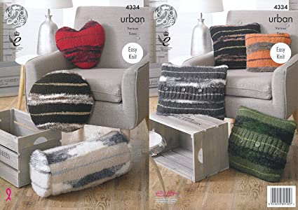 Amazon King Cole Urban Knitting Pattern Home Decor Cushions