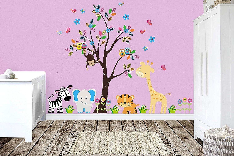 amazon com nursery wall decals baby room stickers jungle andamazon com nursery wall decals baby room stickers jungle and safari theme removable baby