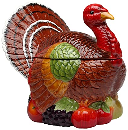 Relatively Amazon.com: Cosmos 10712 Gifts Turkey Design Ceramic Cookie Jar  YG49