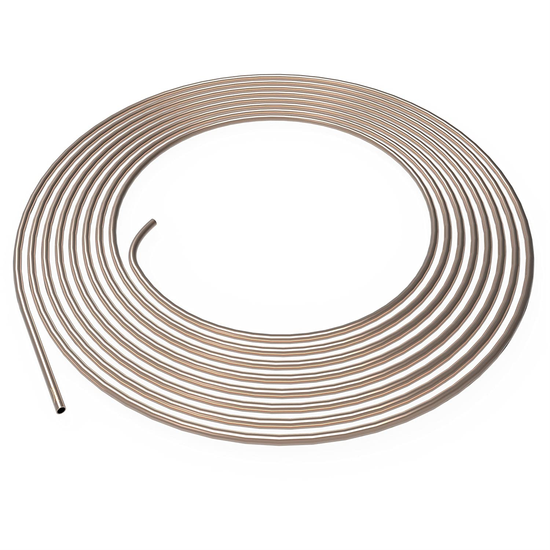 Tuyau de Frein Ø 4, 75 mm en Cupro Nickel Cunife 1m - 10m au choix: 10m mètres 75 mm en Cupro Nickel Cunife 1m - 10m au choix: 10m mètres AUPROTEC