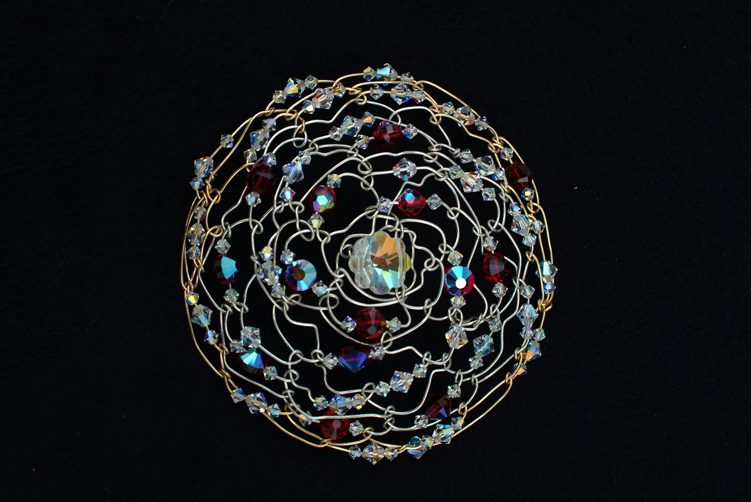 Kippot for women - Wire woven with genuine Swarovski crystal beads