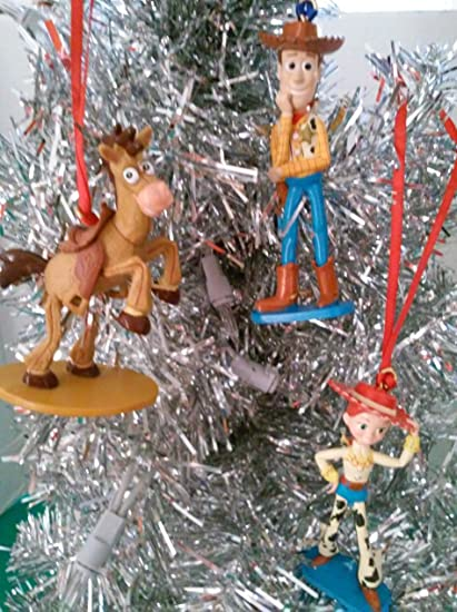 Toy Story Christmas Ornaments.Amazon Com Disney Toy Story Christmas Ornament Set Woody