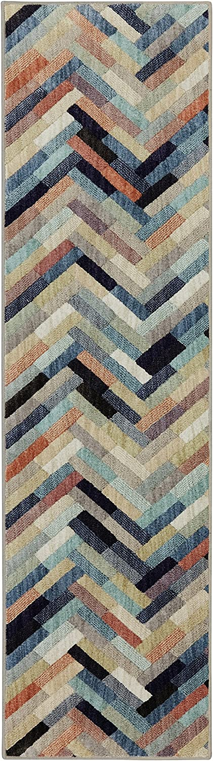 Mohawk Home Cascade Heights Caftan Stripe Multi Rug, 2'1 x 7'10