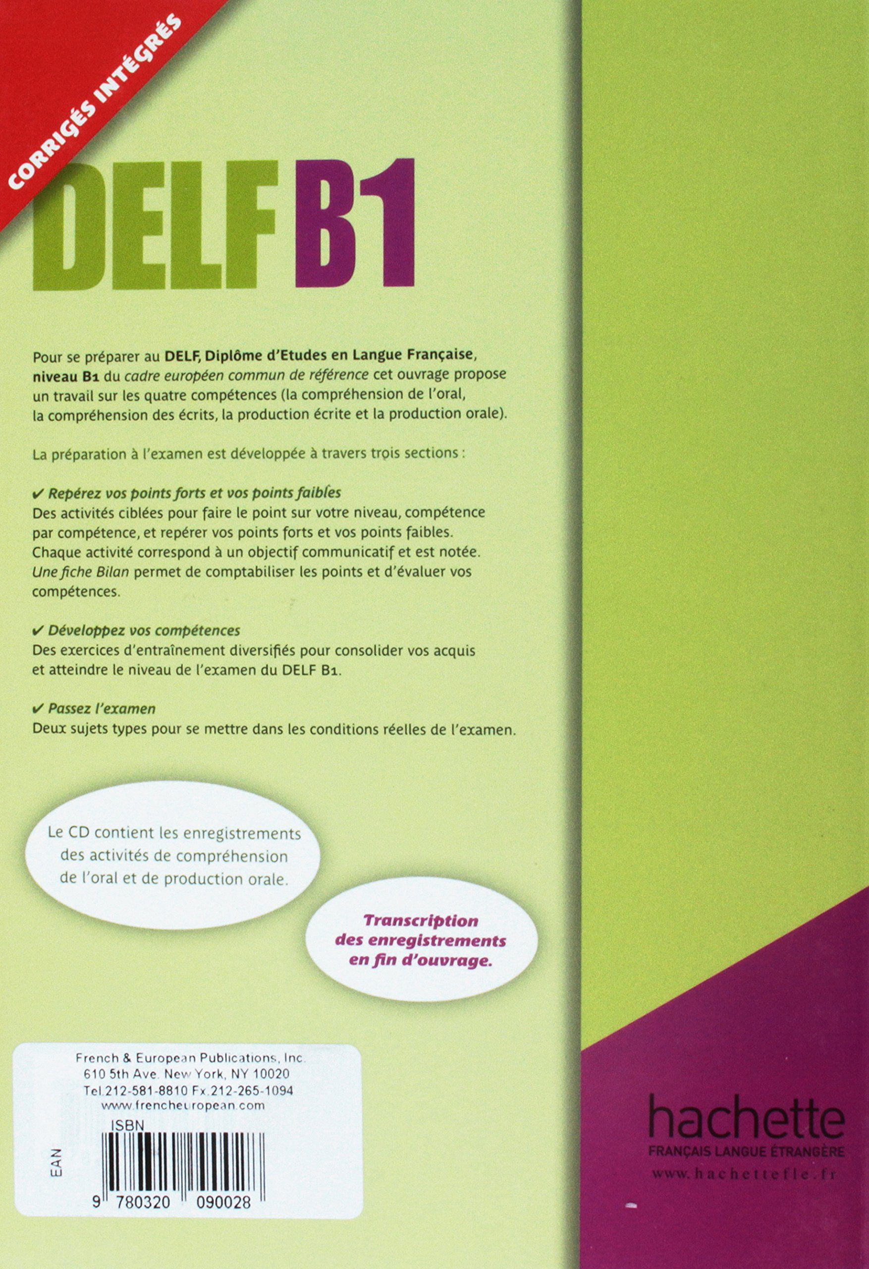 Preparation Examen Delf B1 plus CD audio (French Edition): Veltcheff: 9780320090028: Amazon.com: Books