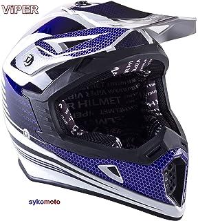 VIPER RS X95 MOTOCROSS MOTO QUAD ATV DIRT ENDURO OFF ROAD DEPORTE CARRERAS MOTO CASCO AZUL
