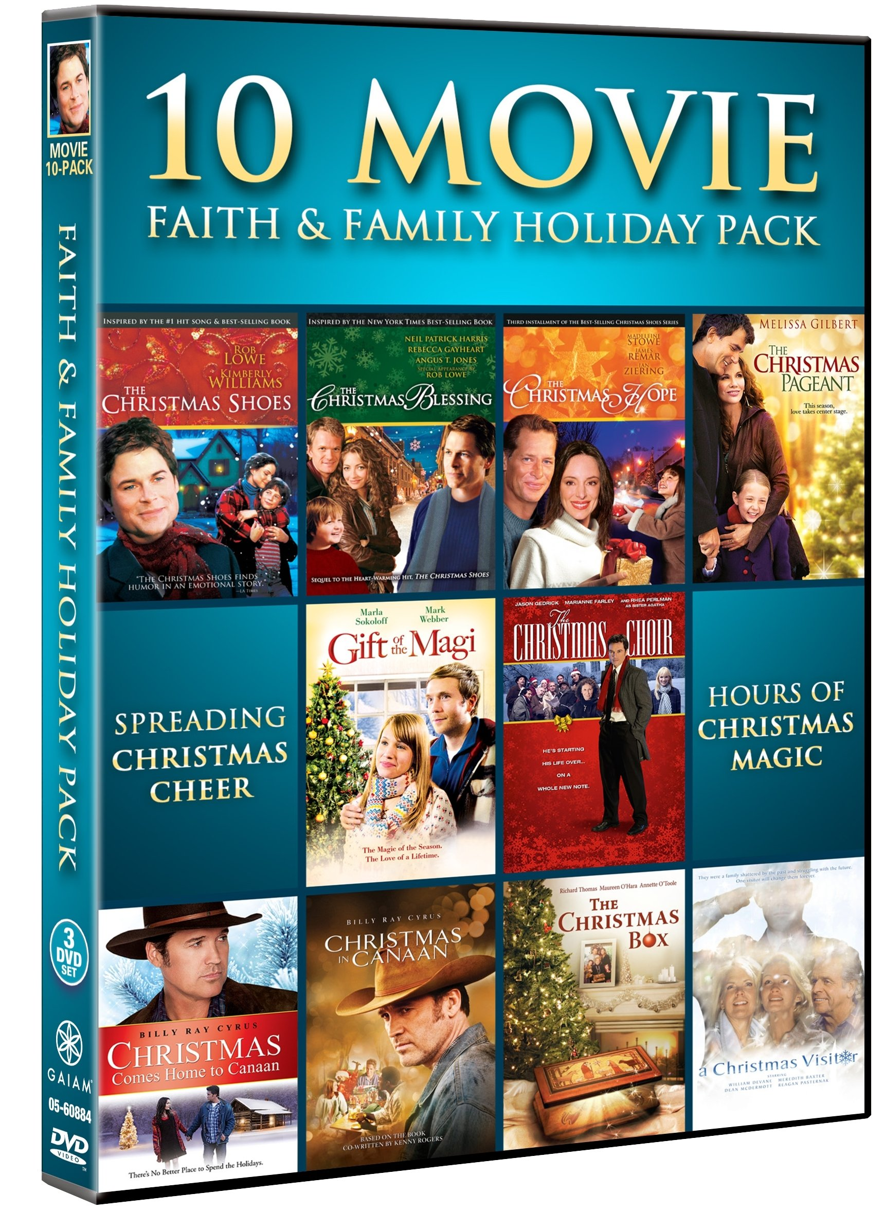 10 Movie Faith and Family Holiday Pack (3PC)