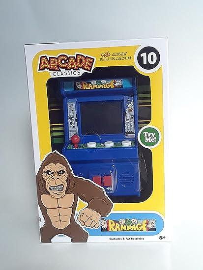 Amazon Com Arcade Classics Rampage Mini Arcade Game Toys Games