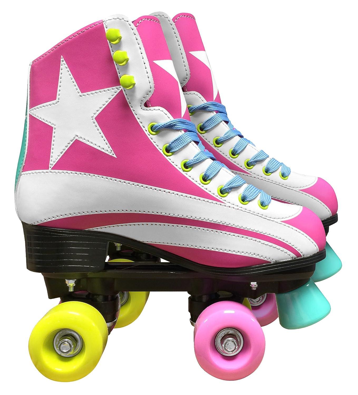Stamp JQ200035/Roller Skates for Girls in Pink Size 2