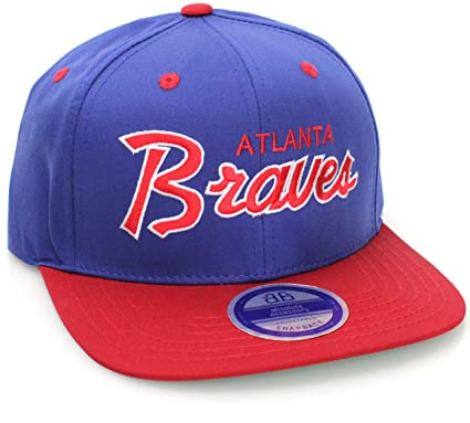 3426204774b Amazon.com  MLB Baseball Teams Flat Bill Script Style Snapback Hat ...