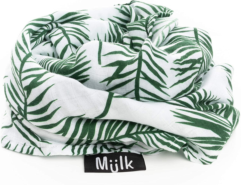 MuslinZ 120cm Large Muslin Square Swaddle Cloud Print Luxury 70/% Bamboo//30/%...