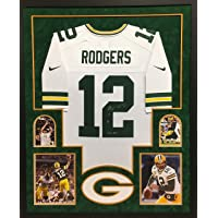 $549 » Aaron Rodgers Green Bay Packers Autograph Signed Custom Framed Nike Jersey XLV MVP INSCRIBED White SUEDE MATTED Steiner Sports…