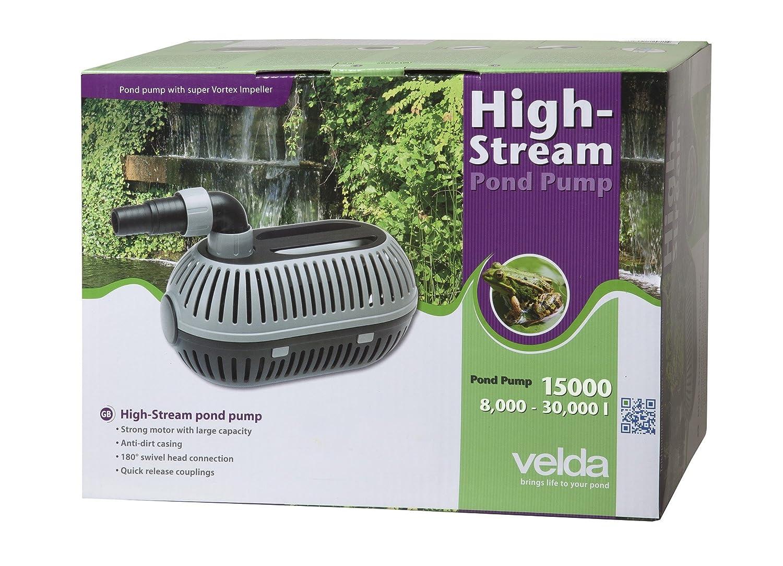 Velda 126474 Teichpumpe zur Nass-/Trockenaufstellung für max. Förderhöhe 5,5m, 210 Watt, High-Stream 15000