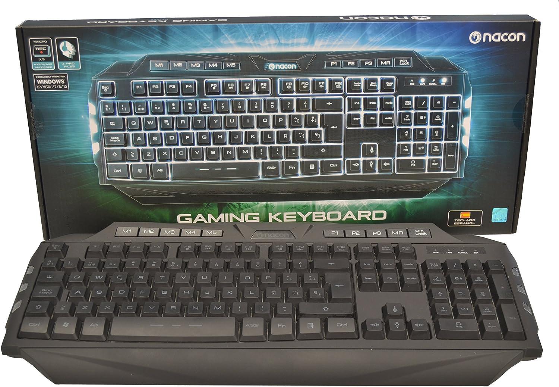 Nacon - Teclado Gaming, Membrana Con Teclas Retroiluminadas ...