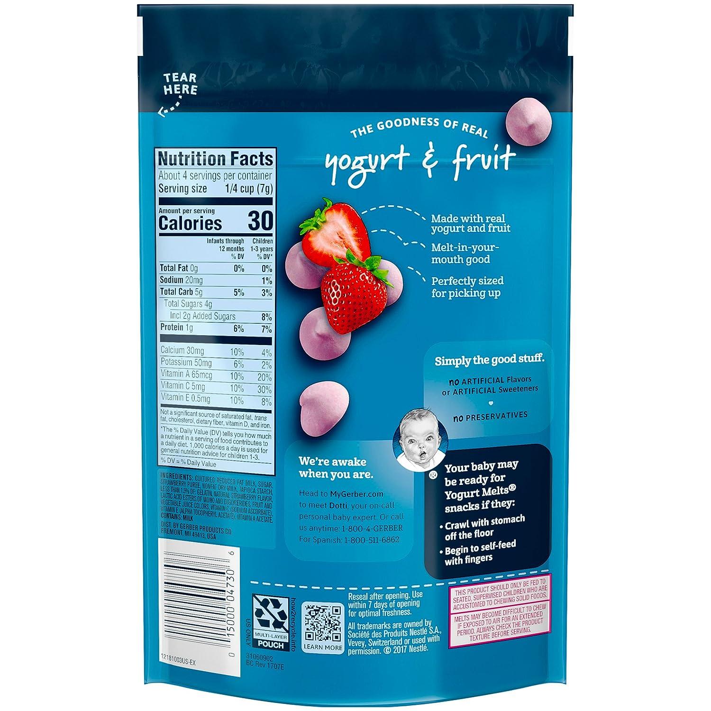 Gerber Graduates Yogurt Melts, Strawberry, 1 Ounce (Pack of 7 ...