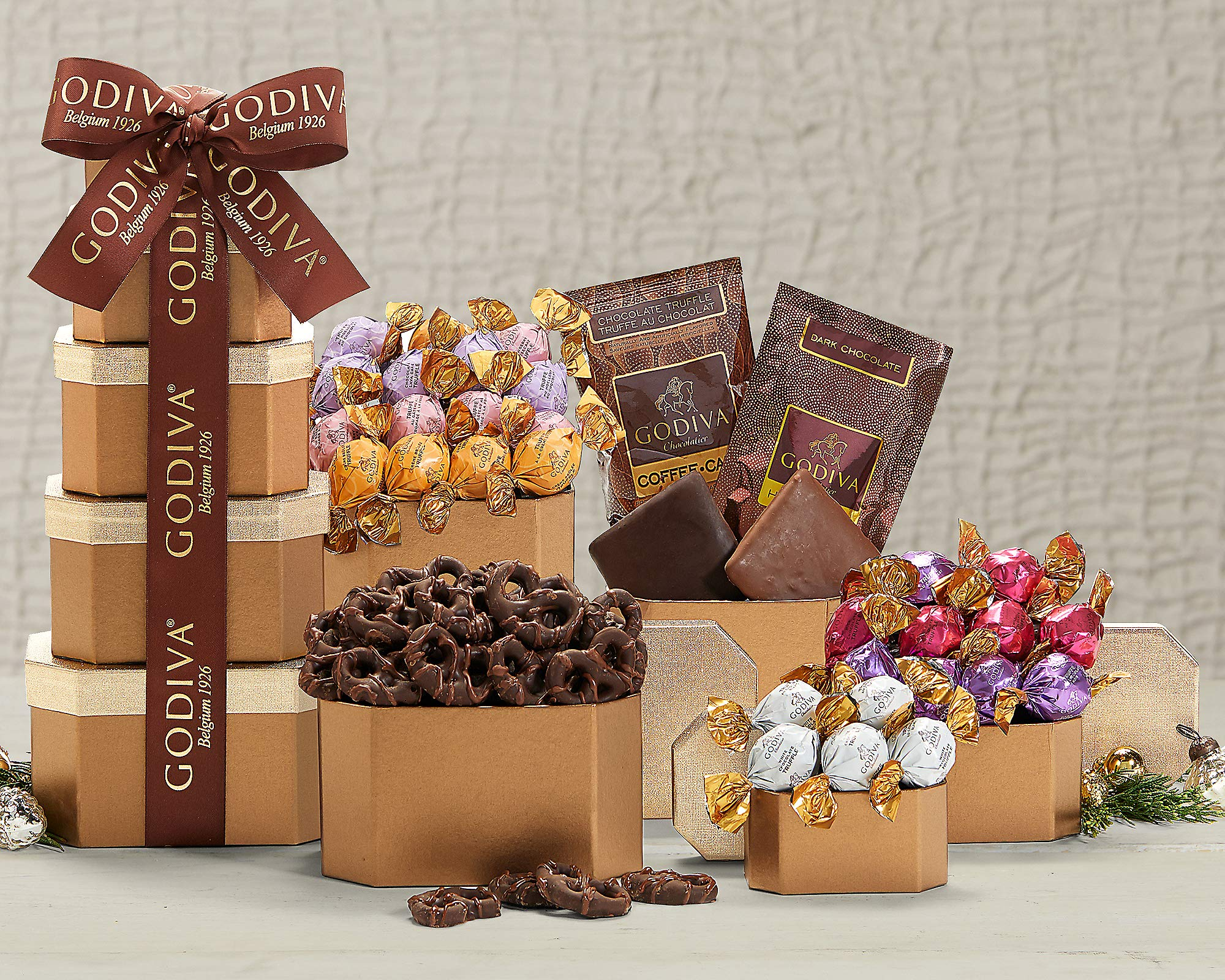 Wine Country Gift Baskets Godiva Milk & Dark Chocolate Tower by Wine Country Gift Baskets (Image #2)
