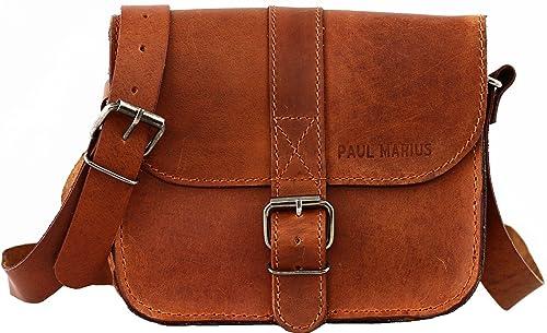 L'ESSENTIEL petit sac bandoulière en cuir couleur naturel PAUL MARIUS yGHfRz