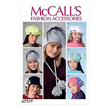 McCall\'s Patterns McCall \'s 7519 OS, Schnittmuster/Mädchen Hüte ...